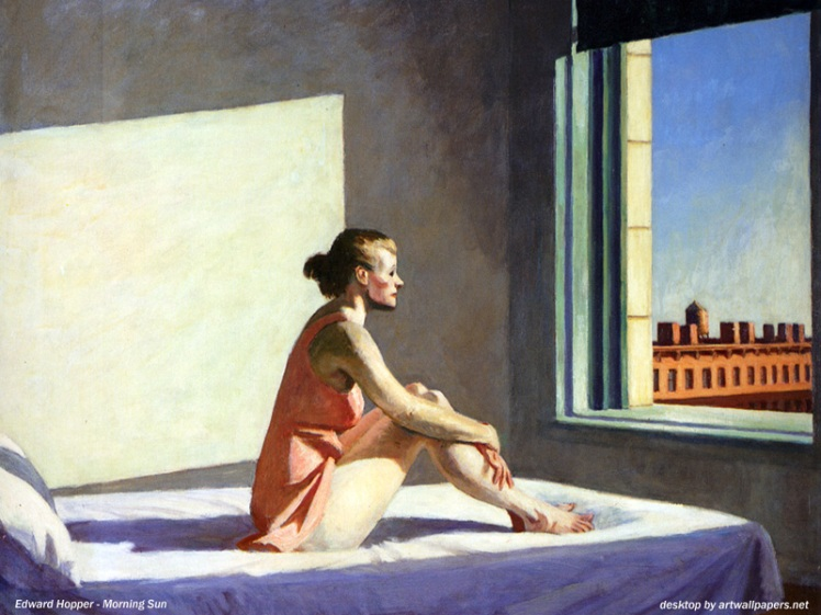 "Edward Hopper, ""Morning Sun."""