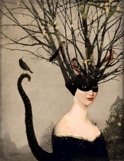 Catwoman by Catrin Welz-Stein via Redbubble