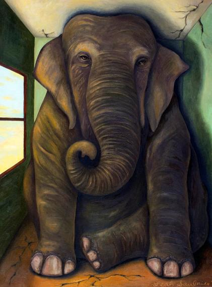 elephant-in-the-room-leah-saulnier-the-painting-maniac