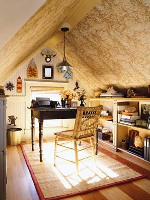 Attic Office via Pinterest