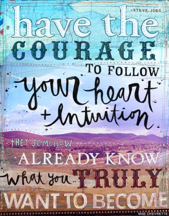 Heart and Intuition by Mae Chevrette via Pinterest