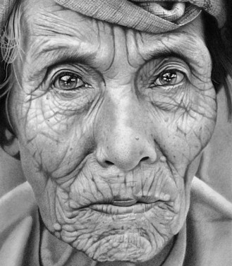 Pencil drawing by Paul Cadden via imgarcade.com